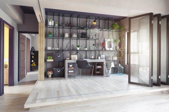 come arredare ufficio pareti mobili