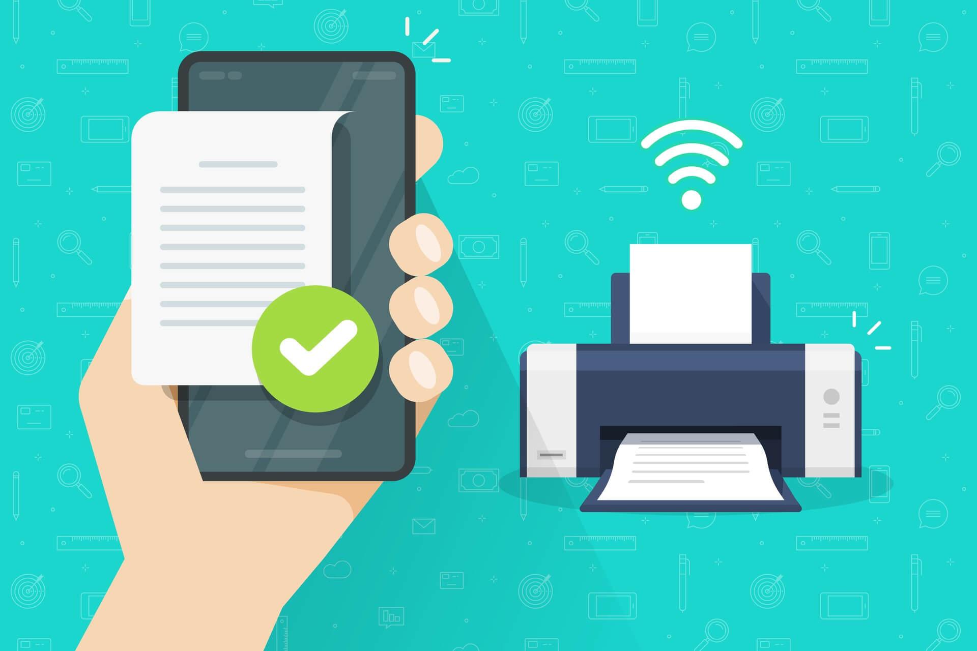 Stampare da cellulare utilizzando il Wi-Fi